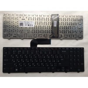 Клавиатура для ноутбука DELL INSPIRON 15R N5110, Q15R M5110 в рамке черная РУССКАЯ РАСКЛАДКА