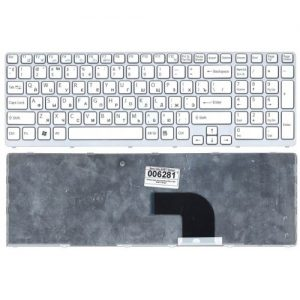 Клавиатура для ноутбука SONY Vaio SVE15 SVE1511X1RW Series белая РУССКАЯ РАСКЛАДКА