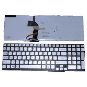 Клавиатура для ноутбука SONY Vaio SVS15 Series Silver with blacklight РУССКАЯ РАСКЛАДКА