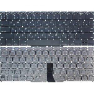 """Клавиатура для ноутбука Apple MacBook Air 11"""" A1370, A1465 черная, малая клавиши ввода РУССКАЯ РАСКЛАДКА"""