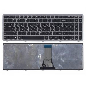 Клавиатура для ноутбука LENOVO G500S G505S S510 Z510 S500 Z505 черная в серой рамке РУССКАЯ РАСКЛАДКА